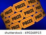 prize big jackpot win award... | Shutterstock . vector #690268915