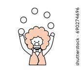 circus clown cartoon | Shutterstock .eps vector #690274696
