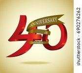 forty years anniversary  sign... | Shutterstock .eps vector #690276262