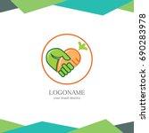 love fruit logo | Shutterstock .eps vector #690283978