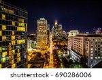 midtown atlanta georgia at... | Shutterstock . vector #690286006