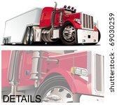 vector cartoon semi truck   Shutterstock .eps vector #69030259