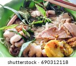 bun mam   rice noodle with soup ...   Shutterstock . vector #690312118