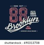 vintage brooklyn typography  t... | Shutterstock .eps vector #690313708
