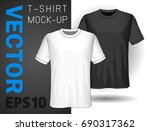 set of templates t shirts.white ... | Shutterstock .eps vector #690317362