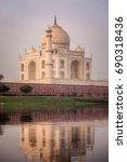 Taj Mahal Shot From The Boat A...