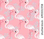 tropical trendy seamless...   Shutterstock .eps vector #690331558
