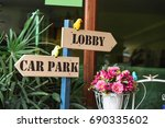 reception lobby and carpark... | Shutterstock . vector #690335602