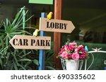 reception lobby and carpark... | Shutterstock . vector #690335602
