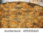tofu fried and taro be fry in... | Shutterstock . vector #690335665