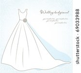 wedding background with bride...   Shutterstock .eps vector #69033988