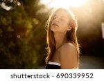 spa wellness beach beauty woman ... | Shutterstock . vector #690339952