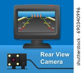 rear view camera video recorder ... | Shutterstock .eps vector #690340996