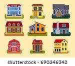 historical city modern world... | Shutterstock .eps vector #690346342