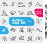 modern thin line natural... | Shutterstock .eps vector #690354088