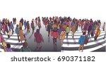 illustration of busy street... | Shutterstock .eps vector #690371182