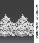 seamless withe vector lace...   Shutterstock .eps vector #690382225