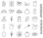 nutrition icons set. outline... | Shutterstock .eps vector #690383695