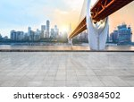 panoramic skyline and buildings ... | Shutterstock . vector #690384502