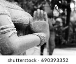 Stone Statue Of Indian Woman...