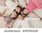 childhood and lifestyle. kids... | Shutterstock . vector #690396328