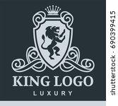 luxury boutique royal crest... | Shutterstock .eps vector #690399415