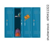 welcome back to school... | Shutterstock .eps vector #690411322
