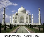 the taj mahal  an ivory white... | Shutterstock . vector #690416452