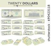 20 dollars banknote vector.... | Shutterstock .eps vector #690423118