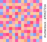 colorful squares. abstract... | Shutterstock . vector #690427216