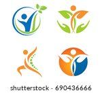 fun people healthy life logo... | Shutterstock .eps vector #690436666