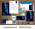 vector abstract stationery... | Shutterstock .eps vector #690437812