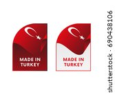 stickers made in turkey. vector ... | Shutterstock .eps vector #690438106