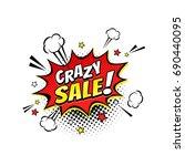 comic speech bubble with... | Shutterstock .eps vector #690440095