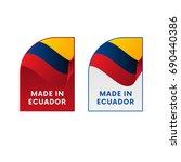 stickers made in ecuador....   Shutterstock .eps vector #690440386