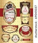 golden vintage label design | Shutterstock .eps vector #69045037