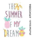 summer slogan | Shutterstock .eps vector #690453886