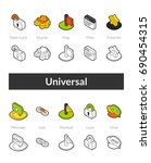 set of isometric icons in...