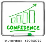 confidence self assured... | Shutterstock . vector #690460792