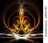 Fractal abstract symmetrical design - stock photo