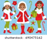 Vector Christmas Set With...