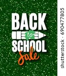 back to school sale banner with ...   Shutterstock .eps vector #690477805