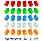 vector push pins | Shutterstock .eps vector #69047809