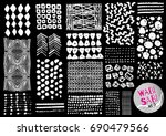 vector hand drawn textures.... | Shutterstock .eps vector #690479566