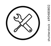 tools icon  screwdriver and... | Shutterstock .eps vector #690480802