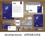 vector abstract stationery... | Shutterstock .eps vector #690481456