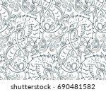 mythological magic beast... | Shutterstock .eps vector #690481582