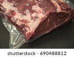 vacuum packed meat | Shutterstock . vector #690488812