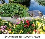 volksgarten in vienna  park in... | Shutterstock . vector #690497605