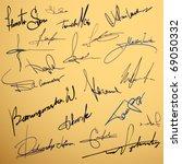 signature writing design vector ...   Shutterstock .eps vector #69050332